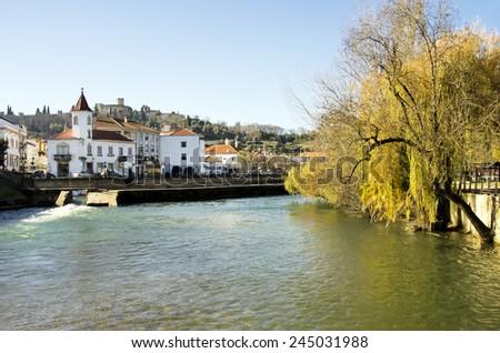 Garden of Tomar city, Santarem District in Portugal  - stock photo