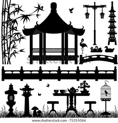 Garden Park Outdoor Recreational Asian Chinese Stock
