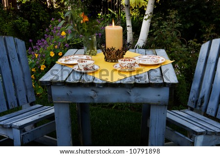 Garden Party - stock photo