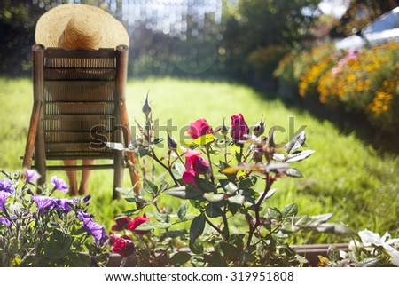 Garden. Recreation. - stock photo