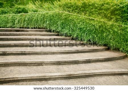 Garden stone landscape - stock photo