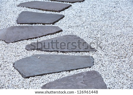Garden stone nature - stock photo