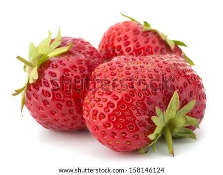 Garden strawberry isolated on white background