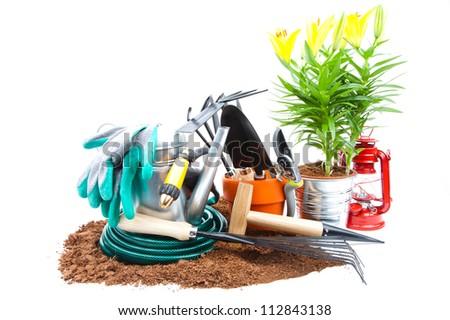 Garden tools - stock photo