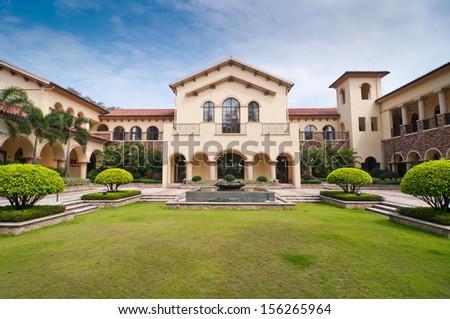 garden villa - stock photo