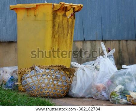 garden waste - stock photo