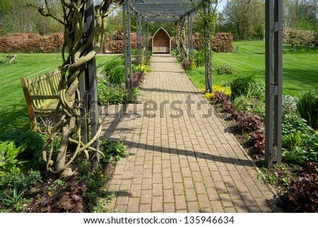garden with plants and flowers