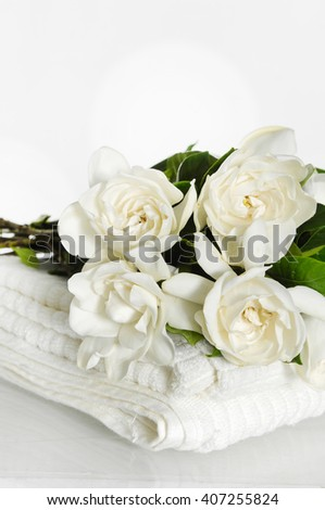 Gardenia on towel
