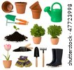 Gardening collection - stock photo