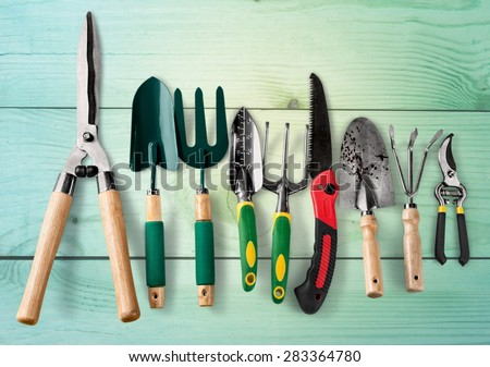 Gardening equipment stock images royalty free images for The works garden tools