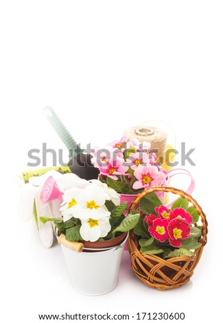 Gardening isolated