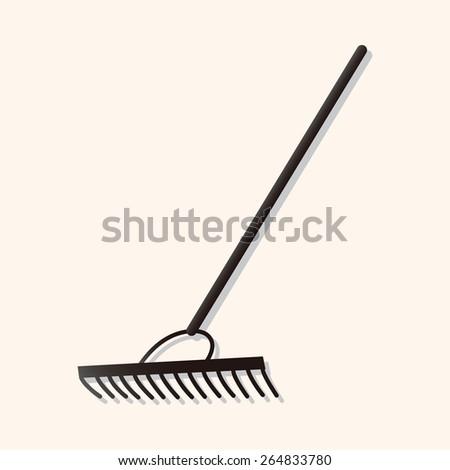 gardening shovel theme elements - stock photo