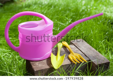Gardening Tools Plastic Watering Can Mini Shovel And
