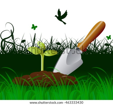 Stock images similar to id 3365491 garden tools icon set for Gardening tools with meaning