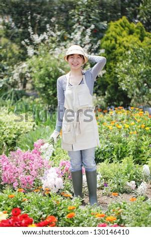 Gardening, Women - stock photo