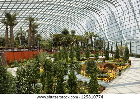 Gardens by the Bay, Singapore - stock photo
