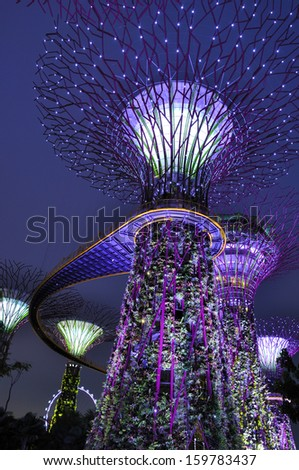 gardens by the bay supertree grove in singapore spanning 101 hectares and five - Garden By The Bay Mrt Station