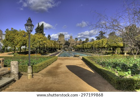 Gardens of the Alcazar of the Christian Kings, Cordoba, Andalusia, Spain