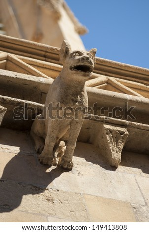 Gargoyle in City Hall building of Palma de Mallorca, Spain