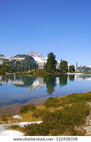 Garibaldi peak. Provincial park, British Columbia, Canada - stock photo