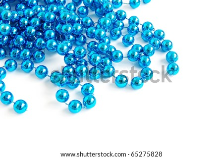 garland isolated on white for your text - stock photo