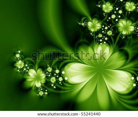 Garland of flowers - stock photo