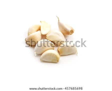garlic bulb isolated on white background - stock photo