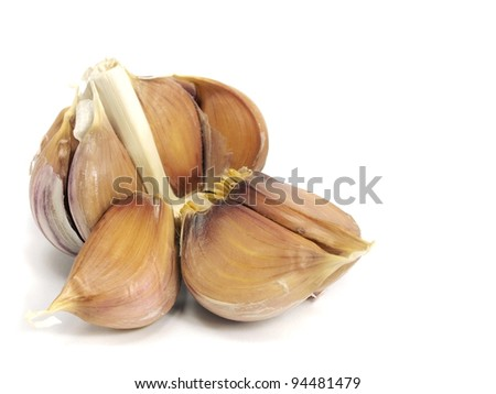 garlic bulb on a white background