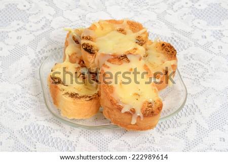 garlic cheese bread - stock photo