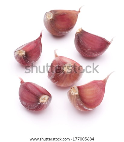 Garlic clove isolated on white background cutout - stock photo