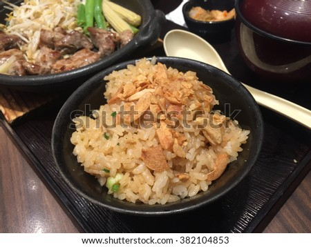 Garlic Fried rice in Japanese style