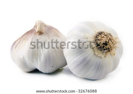garlic isolated on a white background - stock photo