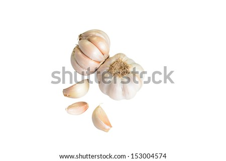 Garlic isolated on white background  - stock photo
