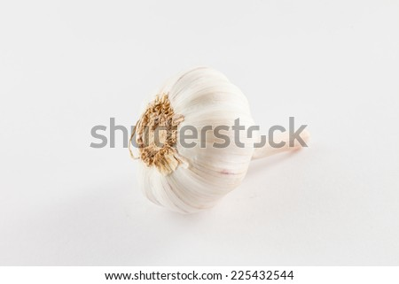 garlic on the white