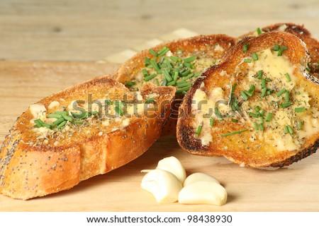 garlic toast - stock photo