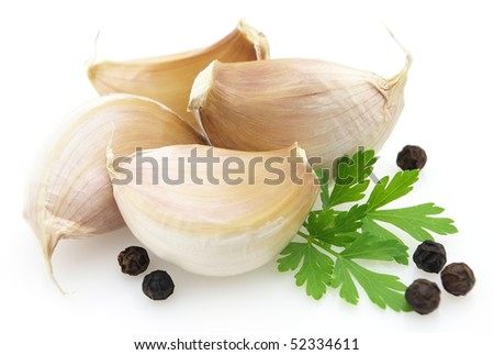 Garlic with parsley and pepper