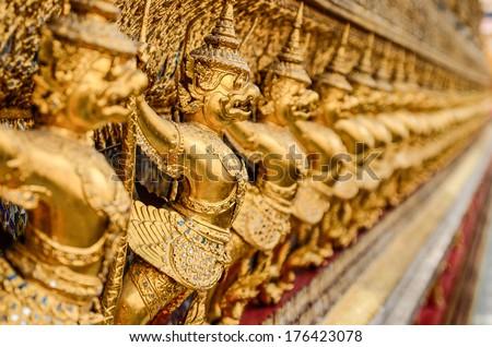 Garuda Wat Phra Kaew Bangkok Thailand - stock photo