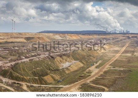 garzweiler brown coal surface mining germany