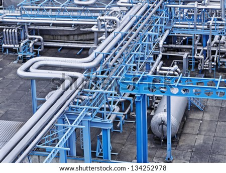 Gas and oil industry - stock photo