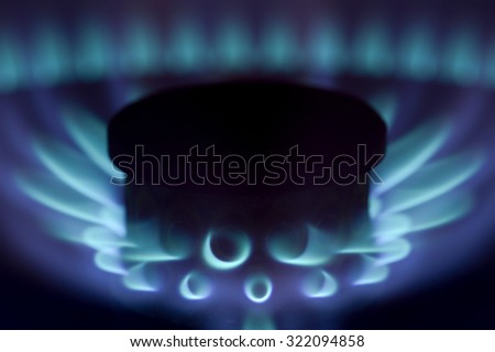 Gas background - stock photo