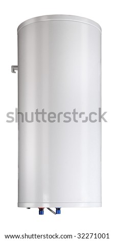 Gas boiler isolated on a white background. Including clipping path - stock photo