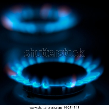 gas burner - stock photo