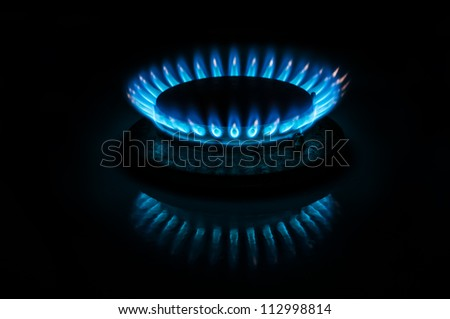 Gas burner close up - stock photo