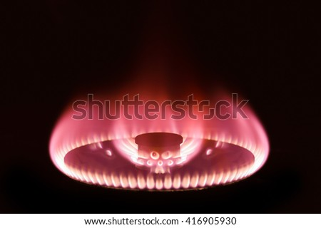 Gas burning abstract background. - stock photo