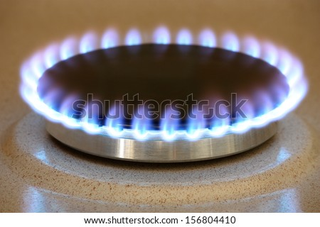 Gas cooker 2 - stock photo