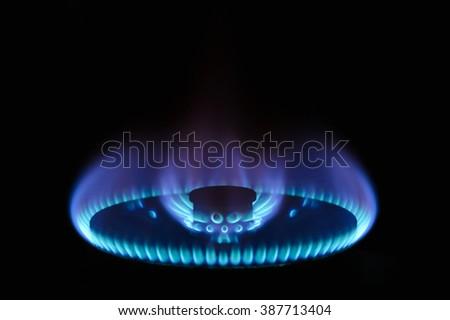 Gas Fire - stock photo
