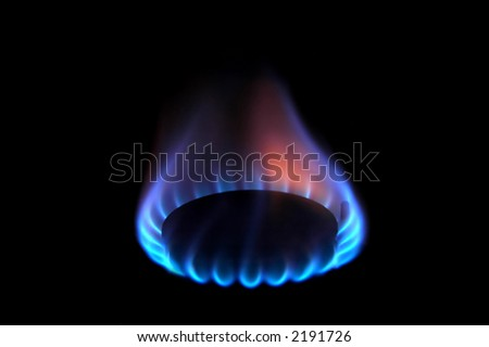 Gas flames - stock photo