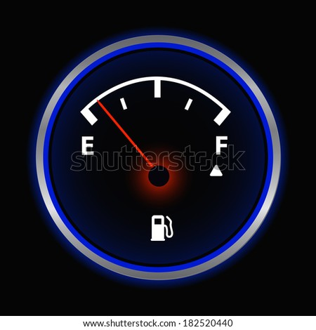 Gas Gauge Illustration. (EPS vector version also available in portfolio)