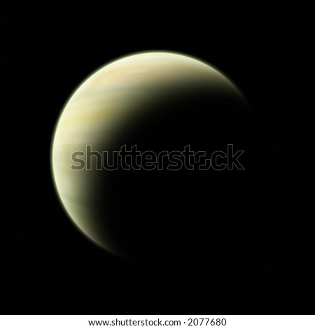 Gas giant - crescent.
