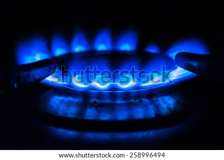gas hobs - stock photo